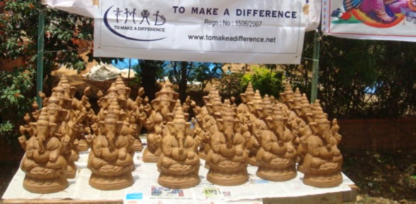 Eco friendly Ganesha Idol Stall